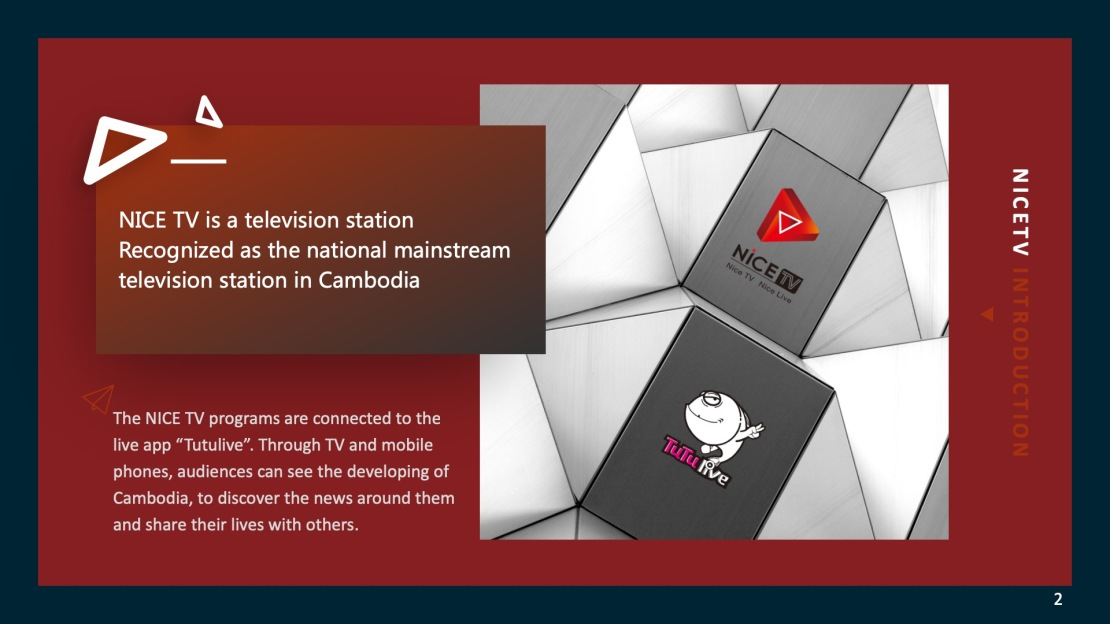 CAMBODIA NICETV TV STATION BUSINESS CHANNAL2